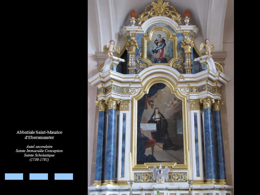 Abbatiale Saint-Maurice d Ebersmunster Autel secondaire Sainte Immaculée Conception Sainte Scholastique (1730-1781)