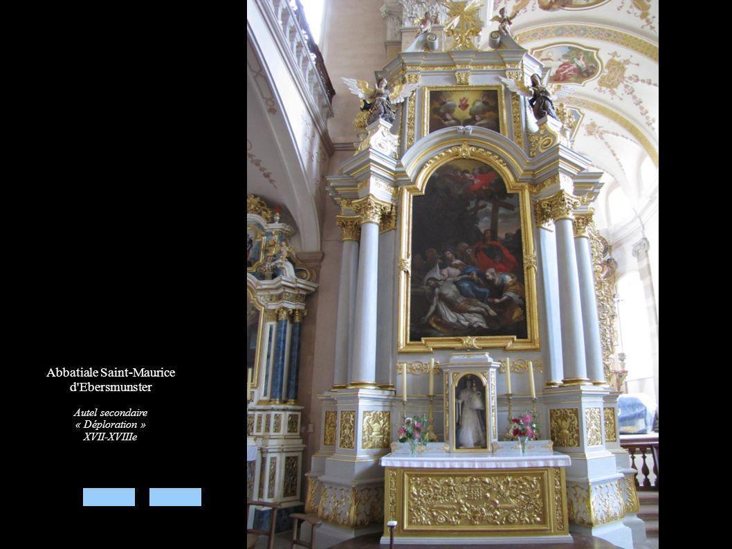 Abbatiale Saint-Maurice d'Ebersmunster Autel secondaire « Déploration » XVII-XVIIIe