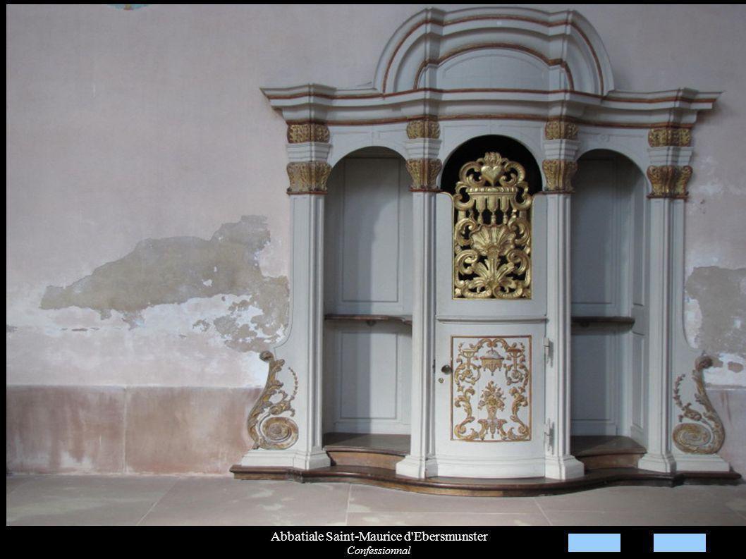 Abbatiale Saint-Maurice d Ebersmunster Confessionnal