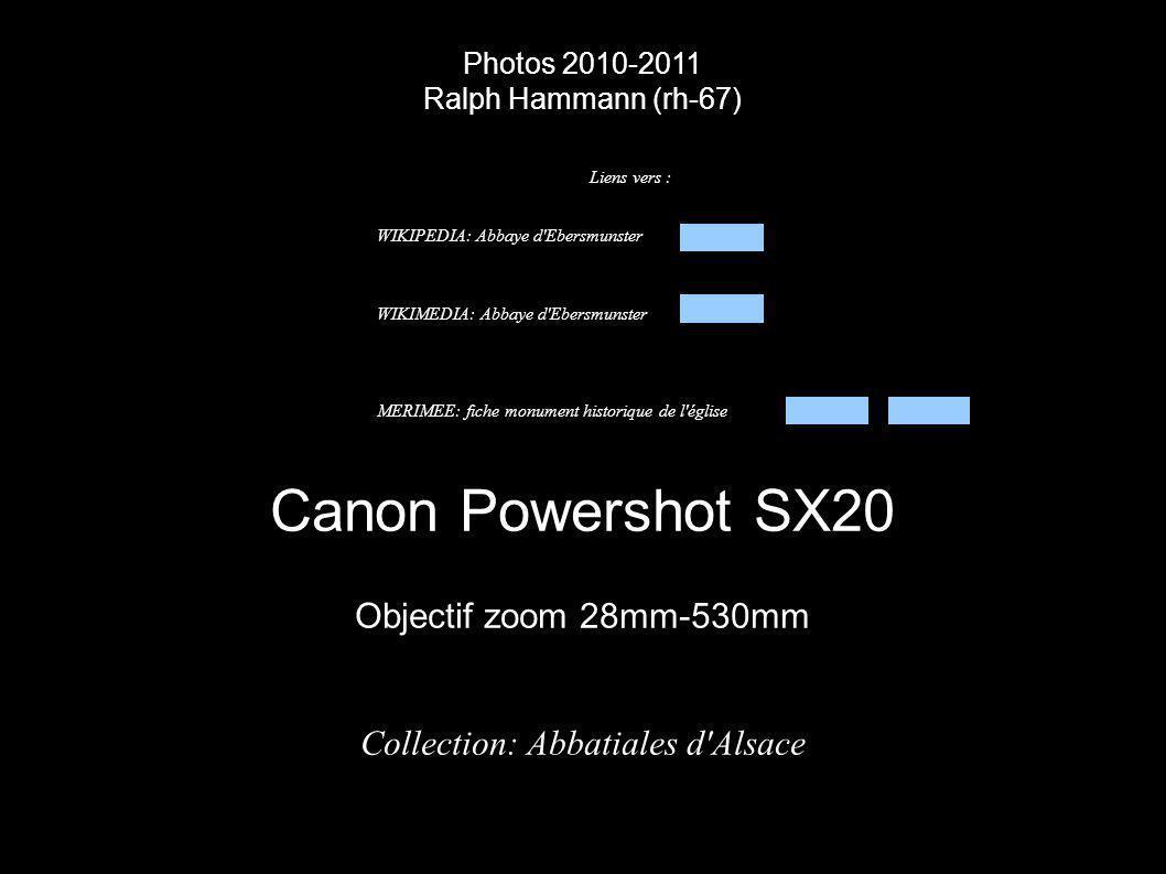 Photos 2010-2011 Ralph Hammann (rh-67) Canon Powershot SX20 Objectif zoom 28mm-530mm Collection: Abbatiales d'Alsace Liens vers : WIKIPEDIA: Abbaye d'
