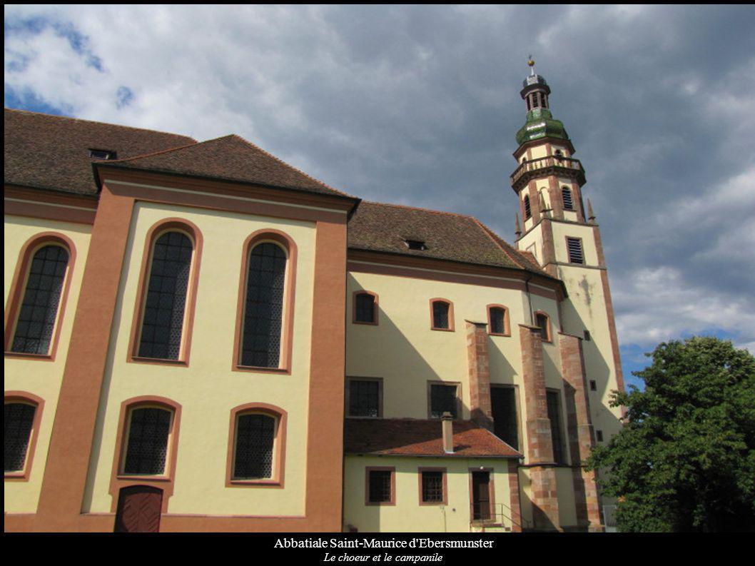 Abbatiale Saint-Maurice d Ebersmunster Le choeur et le campanile