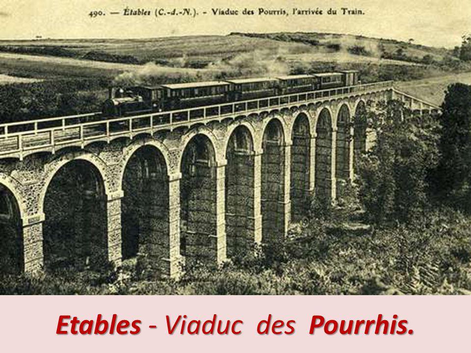 Binic – Pont du chemin de fer sur l ic.