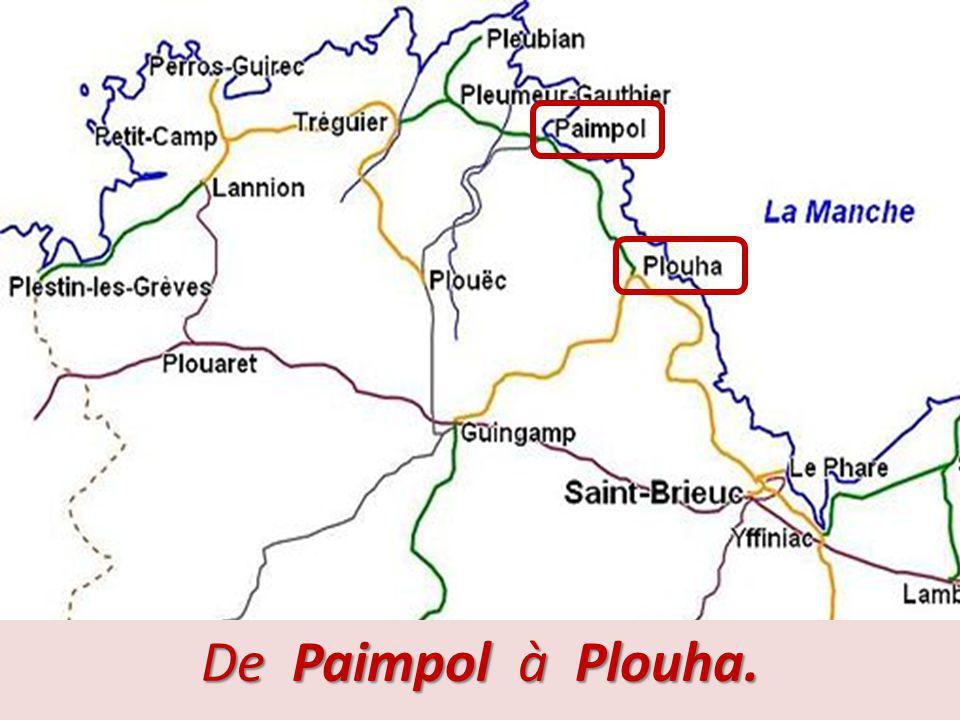 Ligne Paimpol – Plouha (suite). Cette ligne est souvent associée à celle de Saint-Brieuc à Plouha à cause de leur situation et leur histoire puisqu'el
