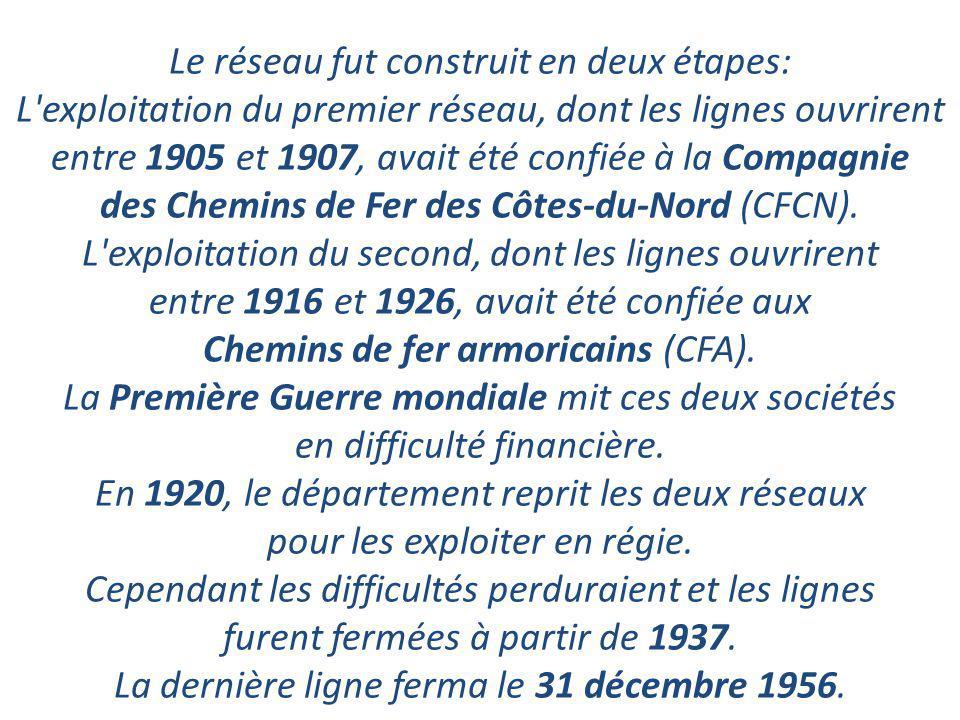 Les chemins de fer des Côtes-du-Nord (CdN) sont un ancien réseau ferroviaire départemental à voie métrique. Composées de 19 lignes, ces voies ferrées