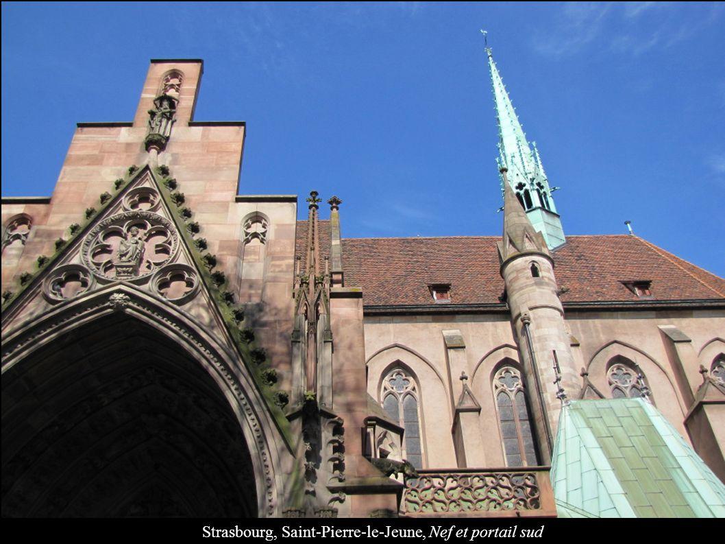 Strasbourg, Saint-Pierre-le-Jeune, Nef et portail sud