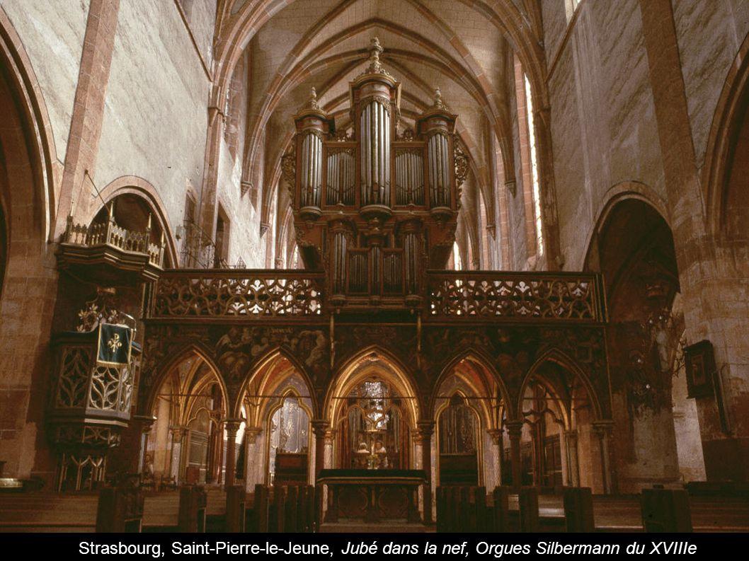 Strasbourg, Saint-Pierre-le-Jeune, Jubé dans la nef, Orgues Silbermann du XVIIIe