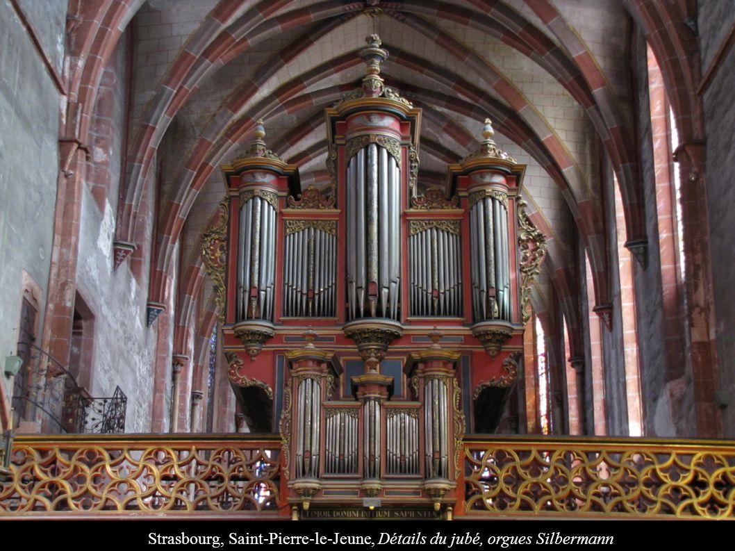 Strasbourg, Saint-Pierre-le-Jeune, Détails du jubé, orgues Silbermann