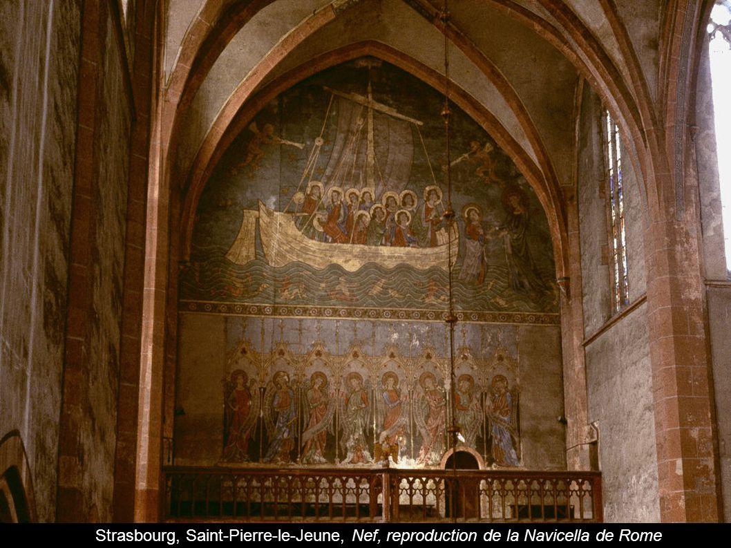 Strasbourg, Saint-Pierre-le-Jeune, Nef, reproduction de la Navicella de Rome