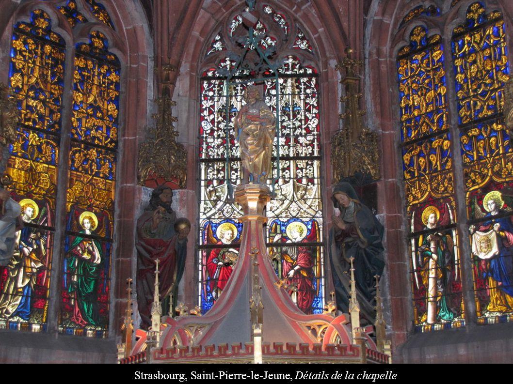 Strasbourg, Saint-Pierre-le-Jeune, Détails de la chapelle