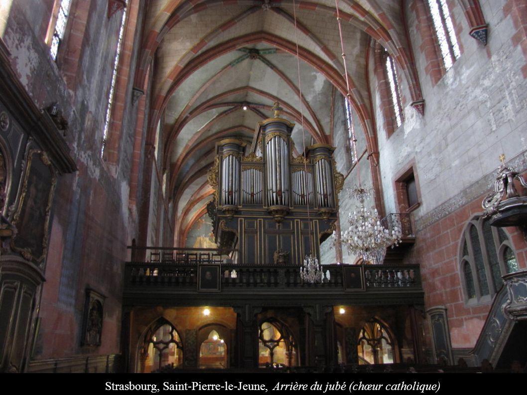 Strasbourg, Saint-Pierre-le-Jeune, Arrière du jubé (chœur catholique)