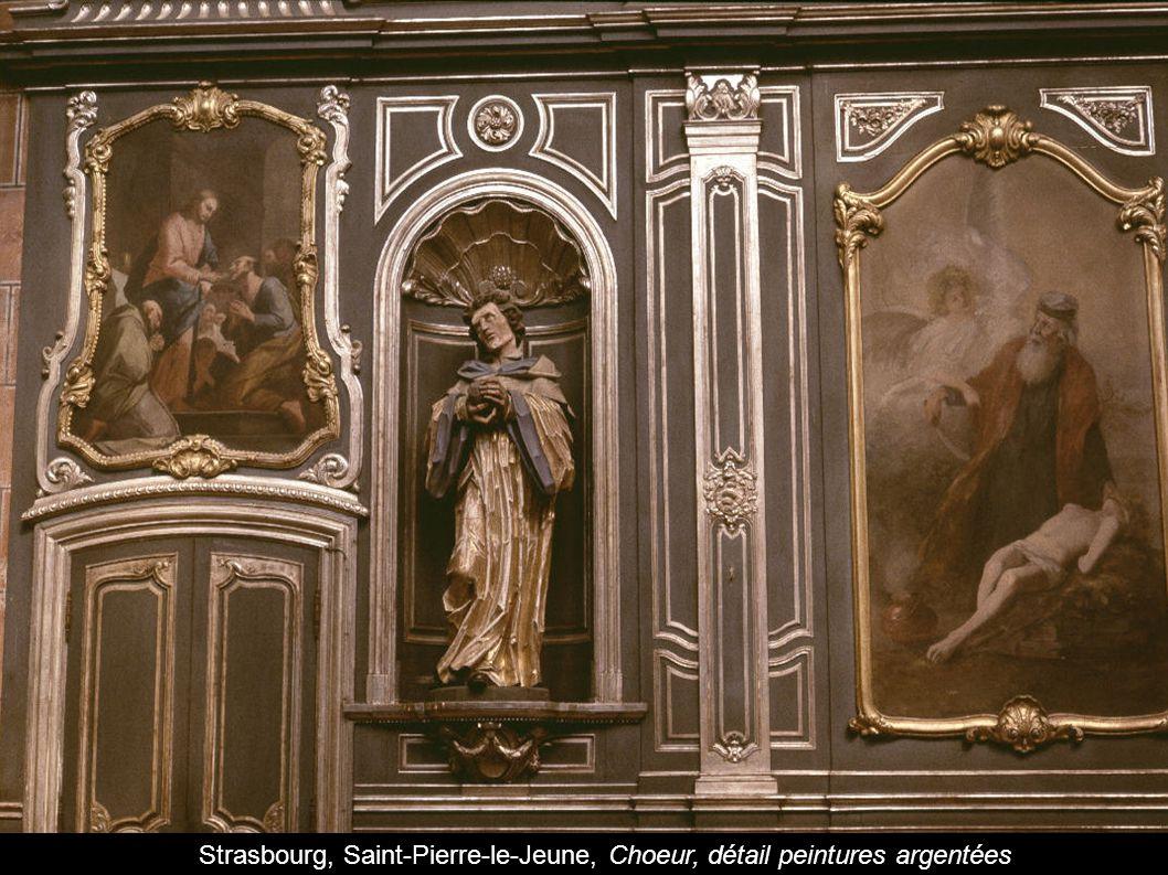 Strasbourg, Saint-Pierre-le-Jeune, Choeur, détail peintures argentées