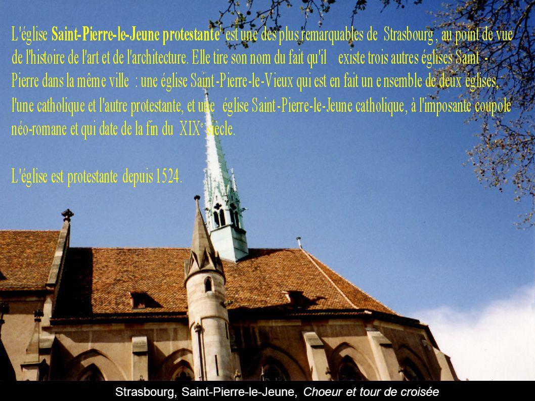Strasbourg, Saint-Pierre-le-Jeune, Choeur et tour de croisée