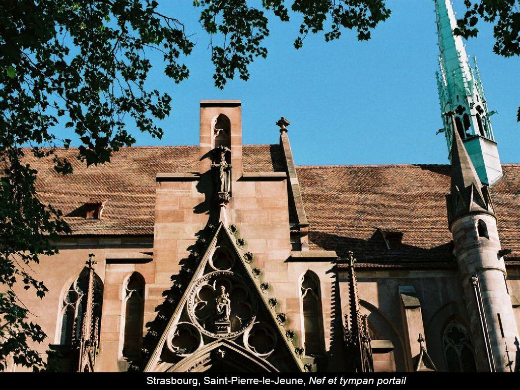 Strasbourg, Saint-Pierre-le-Jeune, Nef et tympan portail