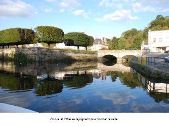 Moulin à marée fondé en 1770 dans une anse de la Laïta sensible à la marée.