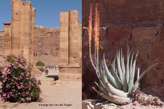 Qasr al-Bint, une des rares structures construites, plutôt que creusées dans la roche, à lépoque nabatéenne vers 30 av JC.