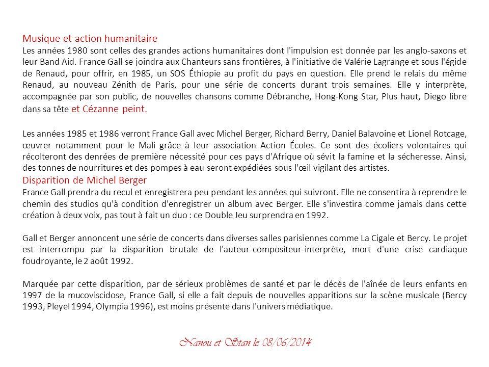 Création familiale et musicale Comme un cadeau prénuptial, Michel Berger consacre son Numéro 1, diffusé le 22 mai 1976 sur TF1, à l'écriture d'une com