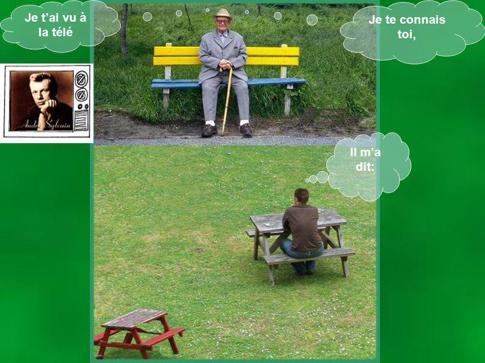 Un dimanche après- midi, jsuis allé me promener dans un parc. Sur un banc il y avait un vieux qui était assis et qui me regardais