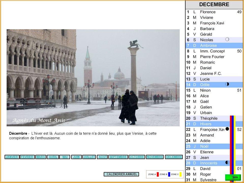 CALENDRIER ANNUEL JANVIERFEVRIERMARSAVRILJUILLETSEPTEMBREMAIJUINOCTOBREDECEMBRENOVEMBREAOUT Novembre – (Notre Dame dEstrée) - L'hiver tant redouté app