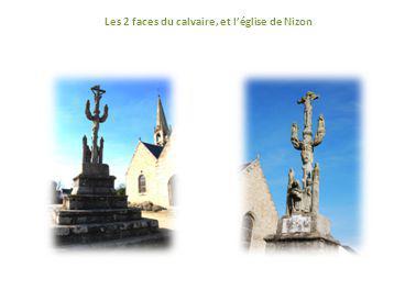 Le calvaire de Nizon (tout proche de Pont –Aven) a inspiré Paul Gauguin pour le Christ Vert.