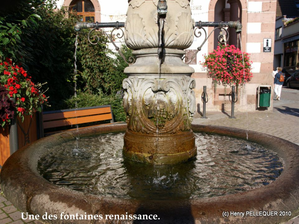 Une des fontaines renaissance.