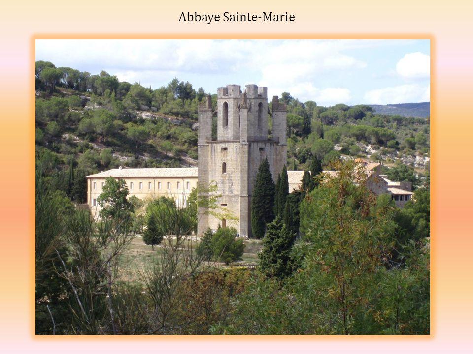 Restes de l église Sainte-Marie La partie basse du château