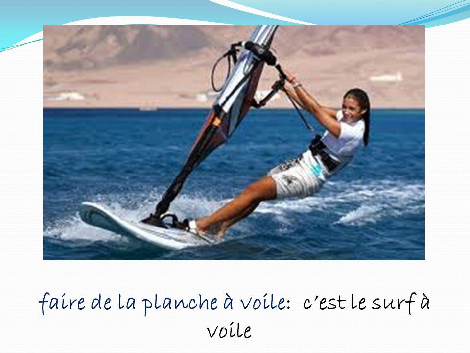 faire de la planche à voile: cest le surf à voile