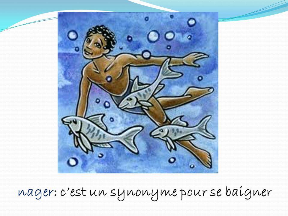 nager: cest un synonyme pour se baigner