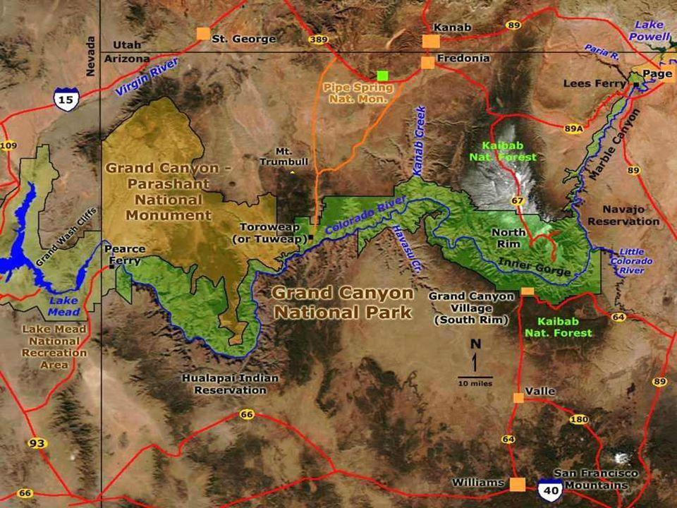 Parc national du Grand Canyon Au Sud-est des Etats-Unis dans l état de l Arizona, le Parc national du Grand Canyon renferme l un des phénomènes les plus saisissants de la planète.