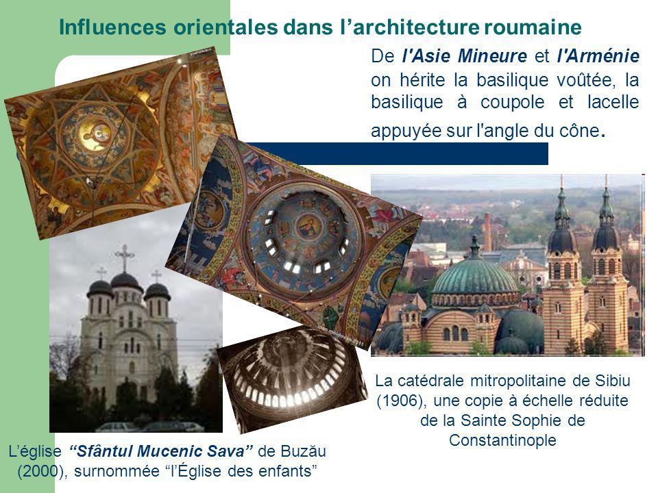 De l Asie Mineure et l Arménie on hérite la basilique voûtée, la basilique à coupole et lacelle appuyée sur l angle du cône.
