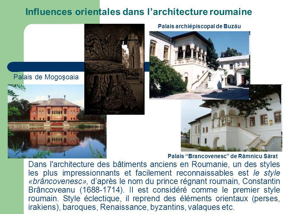 Dans l architecture des bâtiments anciens en Roumanie, un des styles les plus impressionnants et facilement reconnaissables est le style «brâncovenesc», daprès le nom du prince régnant roumain, Constantin Brâncoveanu (1688-1714).
