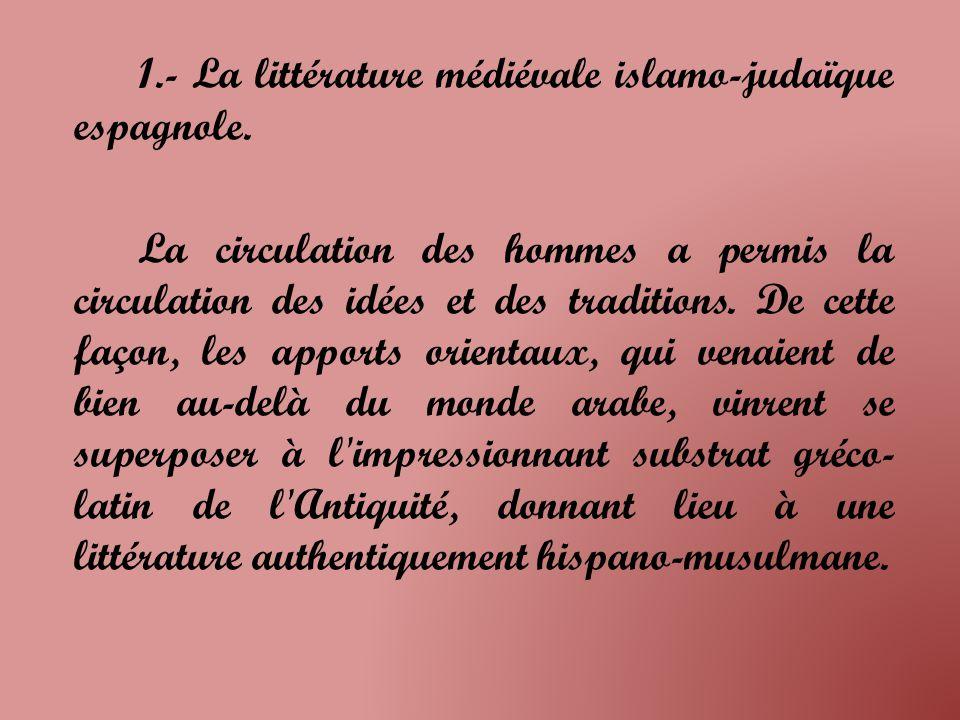 1.1.- Jarchas et moasajas musulmanes; maqamat hispano-juives.