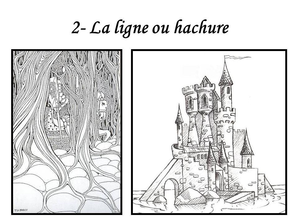 2- La ligne ou hachure