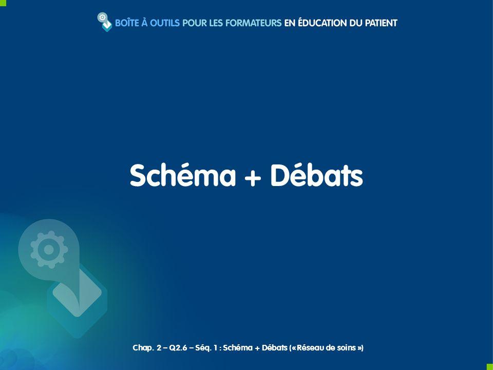 Schéma + Débats Chap. 2 – Q2.6 – Séq. 1 : Schéma + Débats (« Réseau de soins »)
