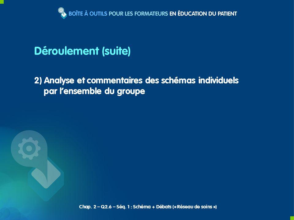 2) Analyse et commentaires des schémas individuels par lensemble du groupe Chap.