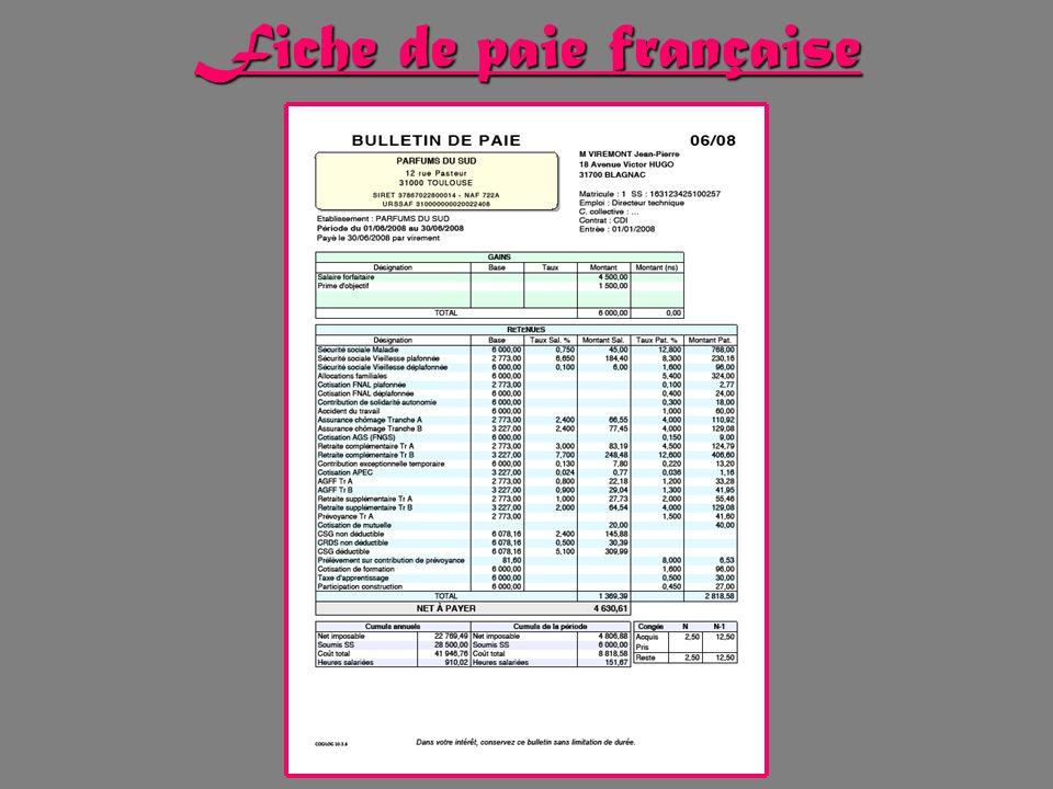 Fiche de paie française
