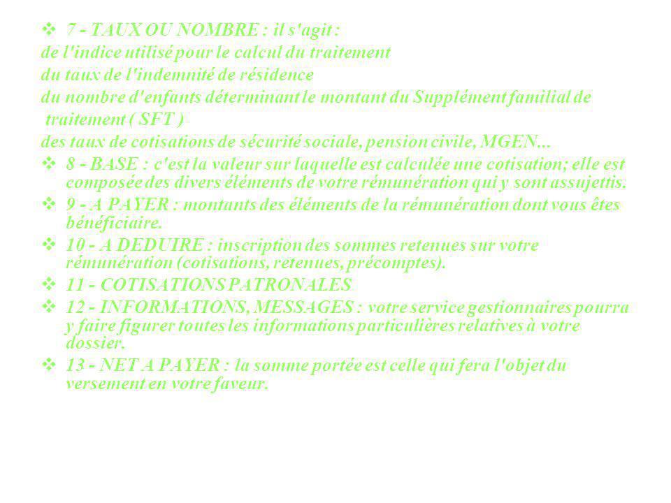 14 - DERNIER FEUILLET : certains bulletins de paie peuvent, dans quelques cas exceptionnels, comporter plusieurs feuillets.