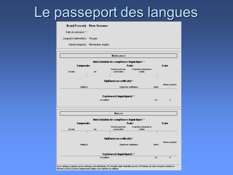 Le passeport des langues