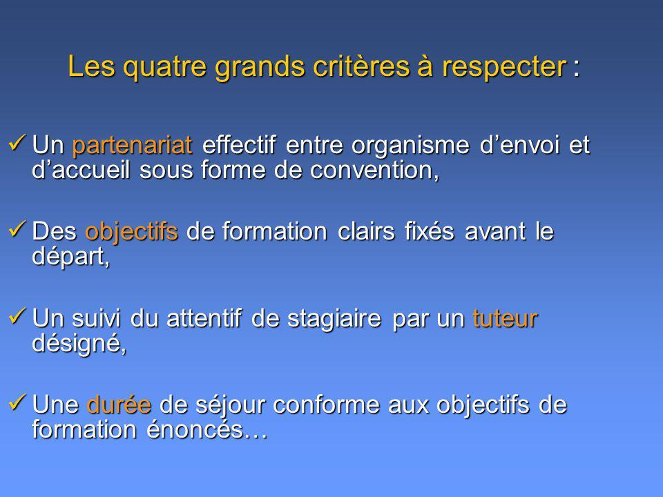 Un partenariat effectif entre organisme denvoi et daccueil sous forme de convention, Un partenariat effectif entre organisme denvoi et daccueil sous f