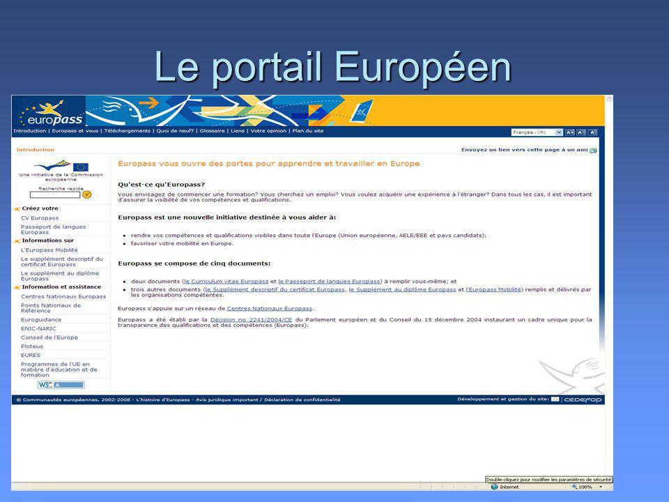 Le portail Européen