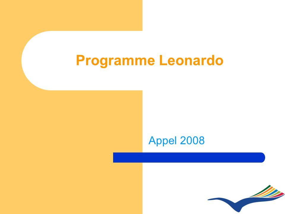 Programme Leonardo Appel 2008
