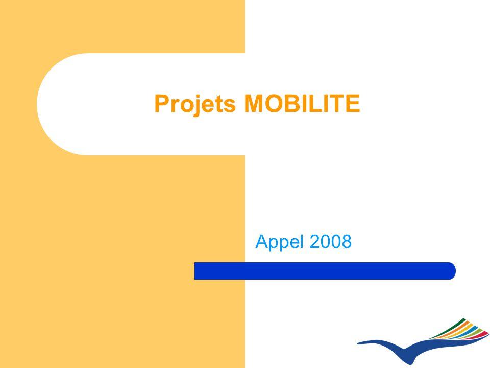 Projets MOBILITE Appel 2008