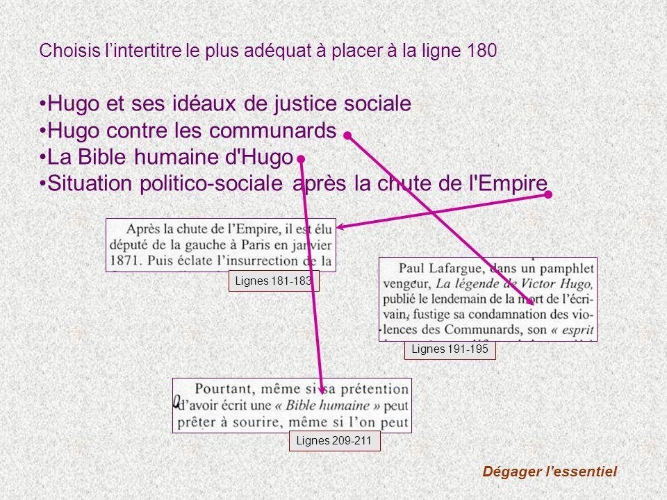 B3) G.Vindt écrit que des catholiques et des enquêteurs sociaux ont influencé Hugo.