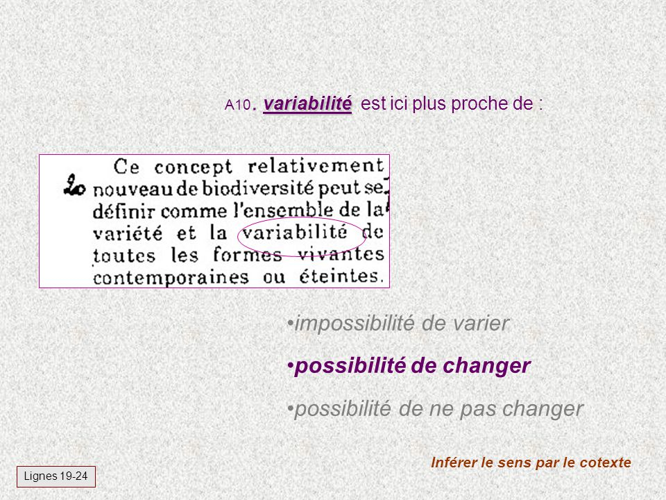 variabilité A10.