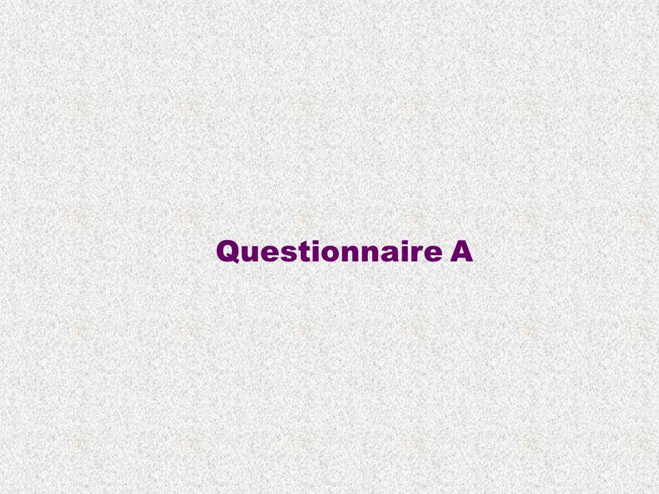 Questionnaire A