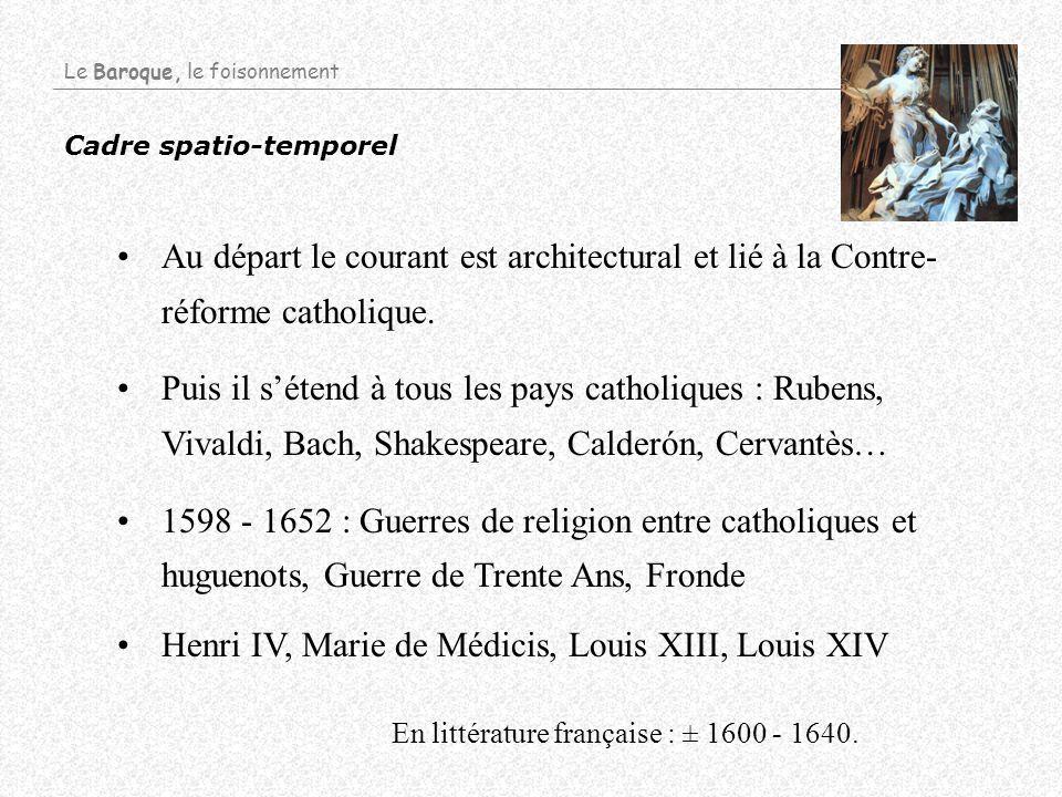 Cadre spatio-temporel Au départ le courant est architectural et lié à la Contre- réforme catholique. Puis il sétend à tous les pays catholiques : Rube