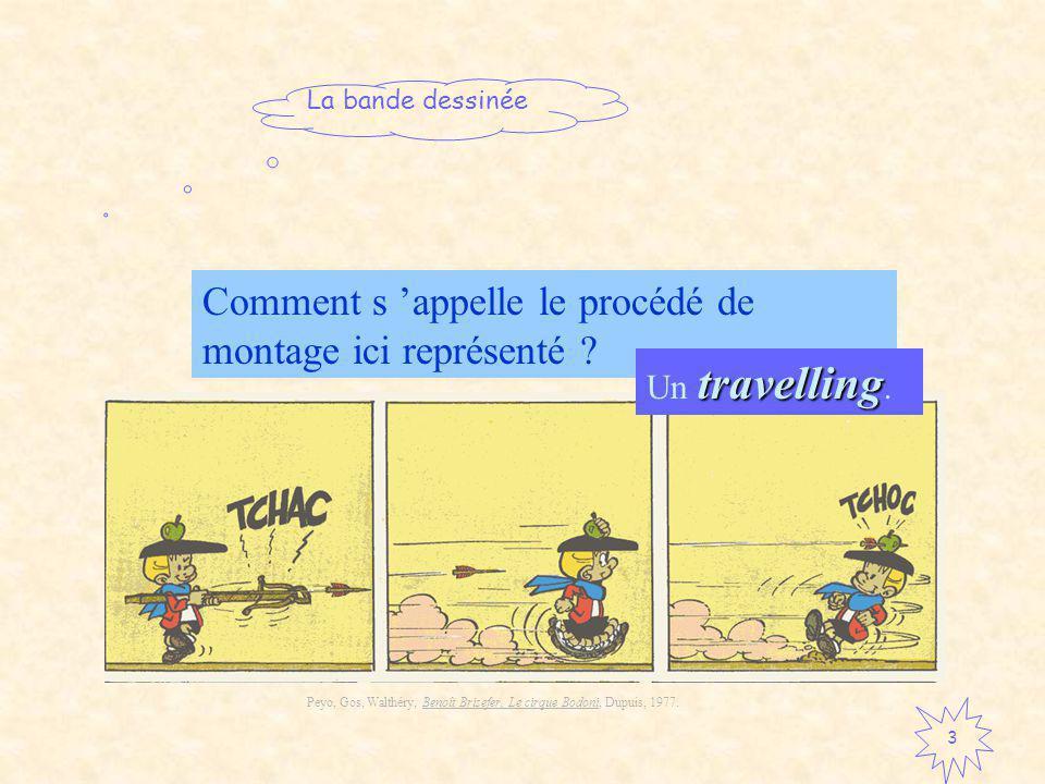 La bande dessinée 3 Comment s appelle le procédé de montage ici représenté .