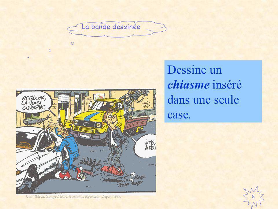 La bande dessinée 8 Dessine un chiasme inséré dans une seule case.