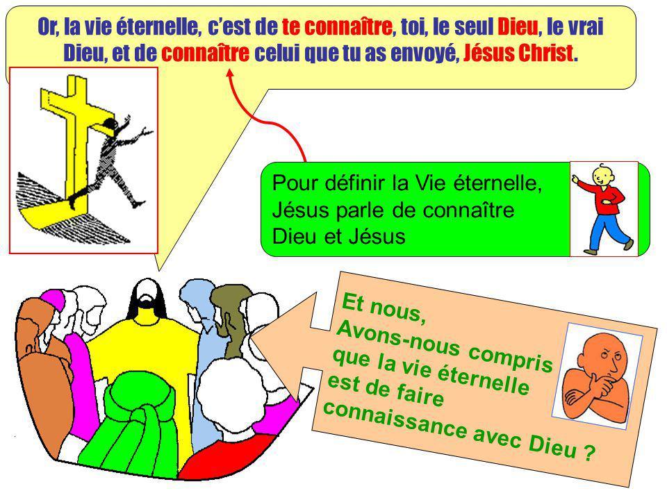 Extrait de « Mille images dEvangile » de Jean François KIEFFER Edition Presse dIle de France Or, la vie éternelle, cest de te connaître, toi, le seul