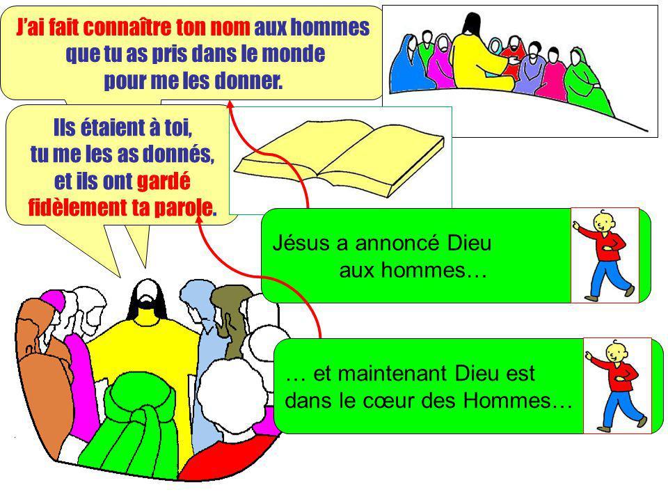 Extrait de « Mille images dEvangile » de Jean François KIEFFER Edition Presse dIle de France Jai fait connaître ton nom aux hommes que tu as pris dans