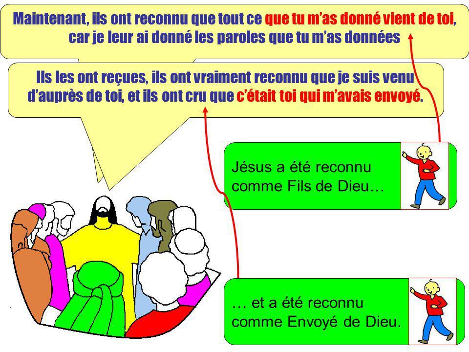 Extrait de « Mille images dEvangile » de Jean François KIEFFER Edition Presse dIle de France Maintenant, ils ont reconnu que tout ce que tu mas donné